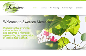 DigitalSea Website Project: Swensen Memorials